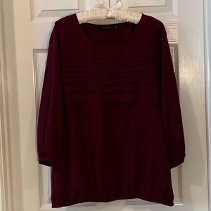 Purple 3/4 sleeve blouse